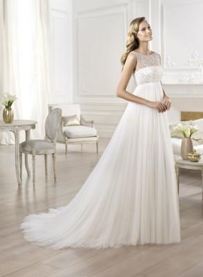 Свадебные платья ниспадающие
